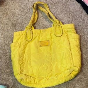 Marc by Marc Jacobs yellow nylon tote bag